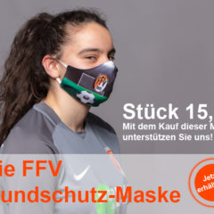 Die FFV-Mundschutz-Maske