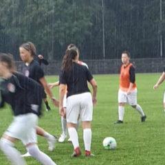 Fußball bei strömenden Regen gegen den FV Sontheim-Brenz