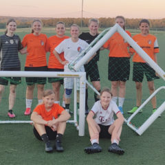 vier Trainings-Fußballtore